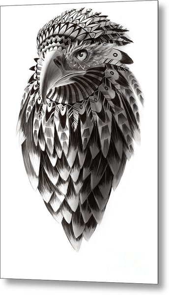 Native American Shaman Eagle Metal Print