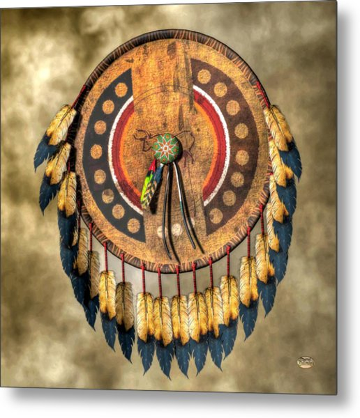 Native American Shield Metal Print