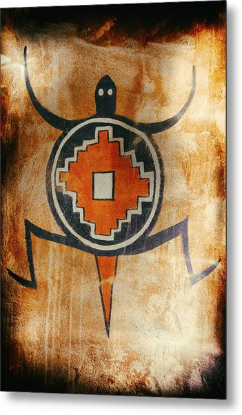 Native American Turtle Pictograph Metal Print