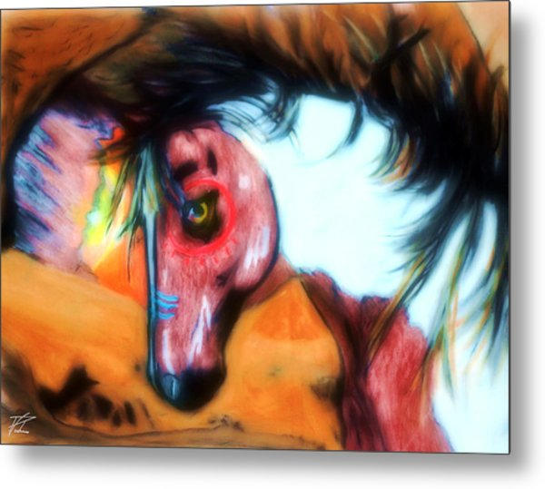 Native War Horse 2 Metal Print