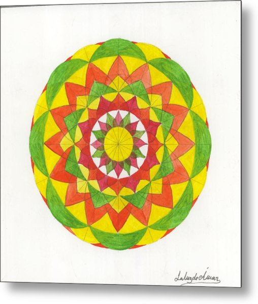 Nature Mandala Metal Print by Silvia Justo Fernandez