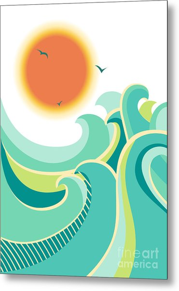Nature Seascape Poster Background With Metal Print