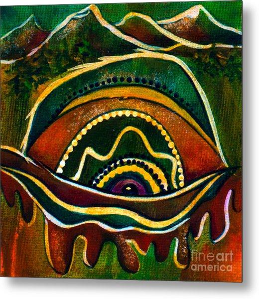 Nature's Child Spirit Eye Metal Print