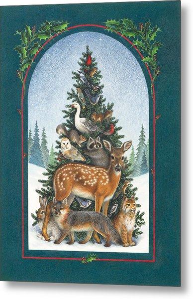 Nature's Christmas Tree Metal Print