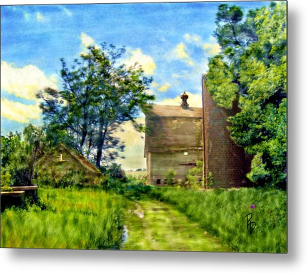 Nature's Farm Reclamation Project Metal Print