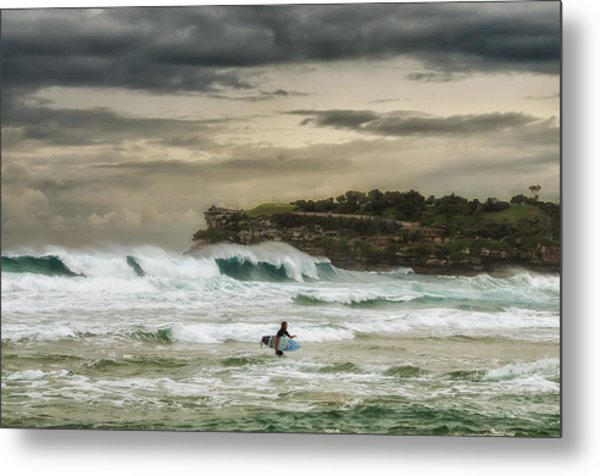 Natures Fury Surfers Paradise - Bondi Beach - Australia - Colour Metal Print