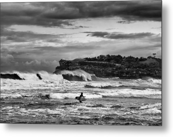Nature's Fury Surfers' Paradise Metal Print