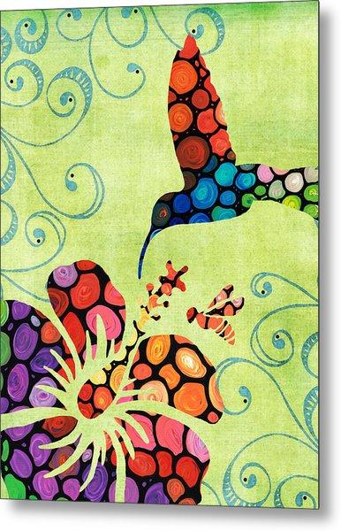 Nature's Harmony 2 - Hummingbird Art By Sharon Cummings Metal Print