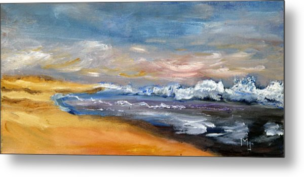 Nauset Beach Surf Metal Print