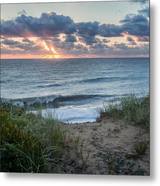 Nauset Light Beach Sunrise Square Metal Print