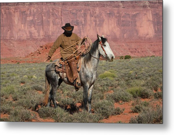 Navajo Cowboy Metal Print