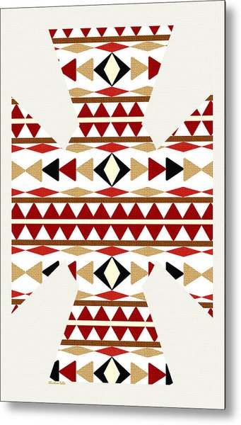 Navajo White Pattern Art Metal Print