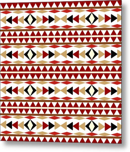 Navajo White Pattern Metal Print