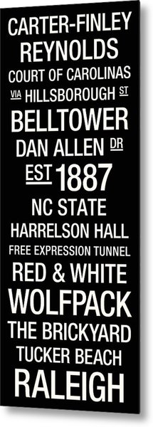Nc State College Town Wall Art Metal Print by Replay Photos