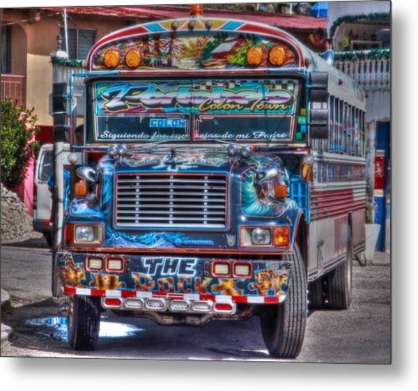 Neat Panamanian Graffiti Bus  Metal Print
