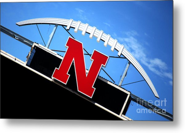 Nebraska Husker Memorial Stadium Metal Print