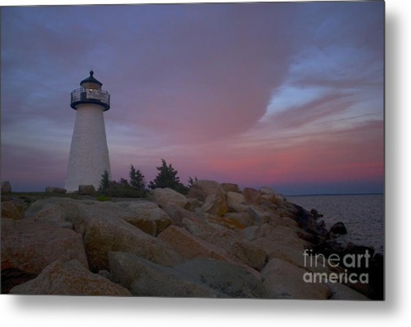 Ned's Point At Sunset Metal Print