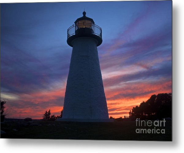 Ned's Point Lighthouse Metal Print by Amazing Jules