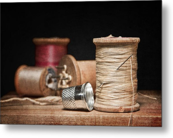 Needle And Thread Metal Print