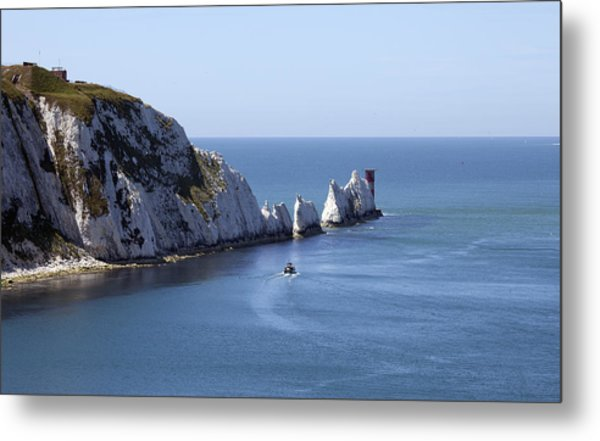 Needle's Isle Of Wight Metal Print