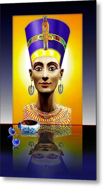Nefertiti  The  Beautiful Metal Print