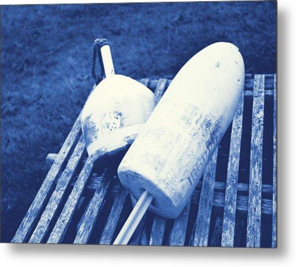 Negative Blue Metal Print by JAMART Photography