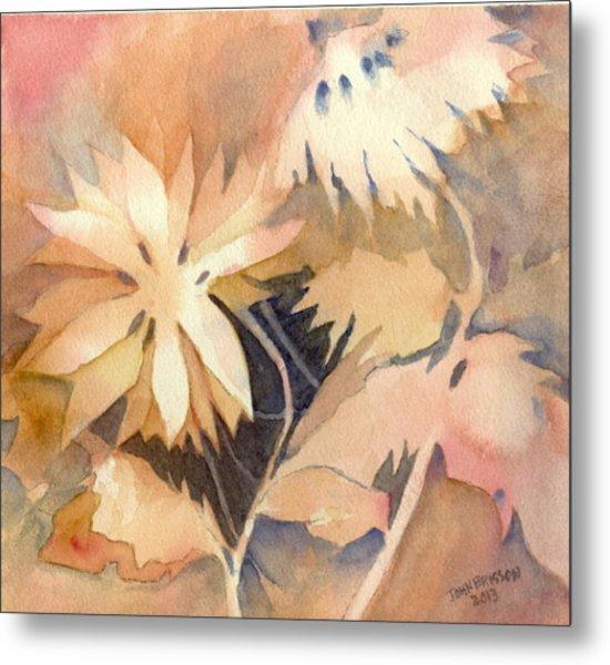 Negative Flowers Metal Print