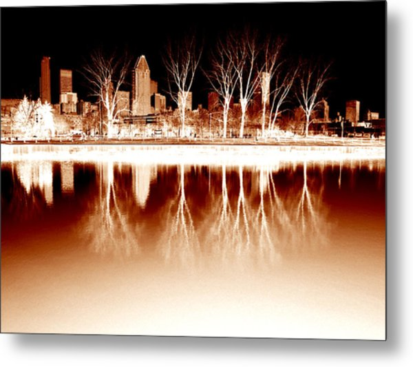 Negative Reflections  Metal Print by Robert Knight