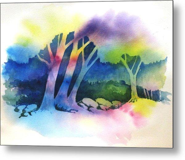 Negative Trees Metal Print by Renee Goularte