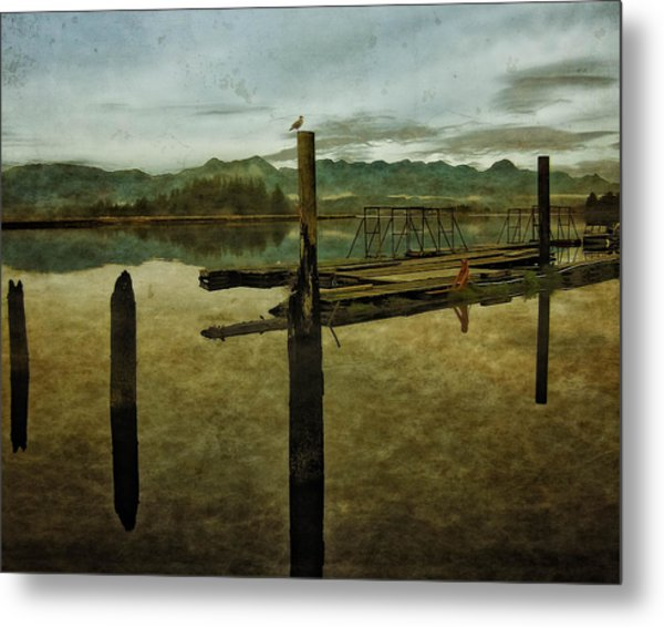 Nehalem Bay Reflections Metal Print