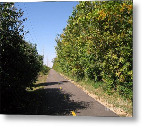 Neighborhood Bicycle And Walking Trail Metal Print