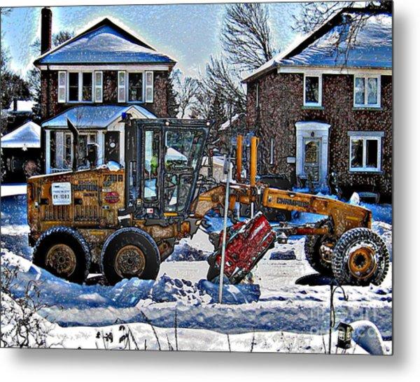 Neighbourhood Snowplough Metal Print