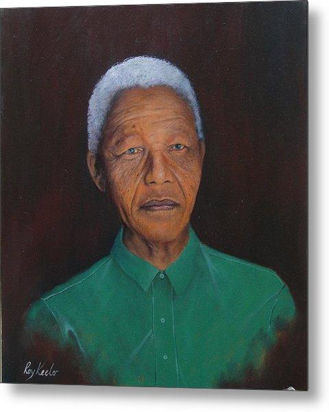 Nelson Mandela Metal Print by Roy Keeler