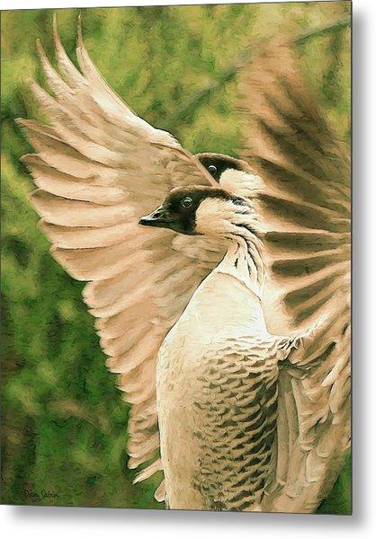 Nene Goose Metal Print