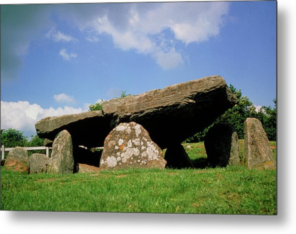 Neolithic Tomb: Arthur's Stone Metal Print by Tony Craddock/science Photo Library