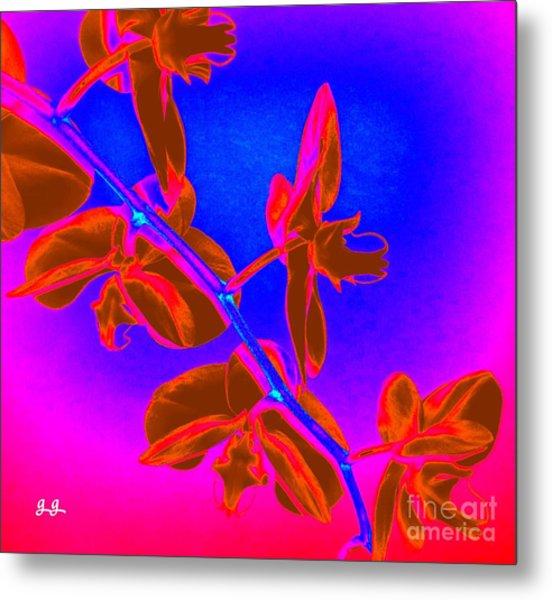 Neon Blooms Metal Print