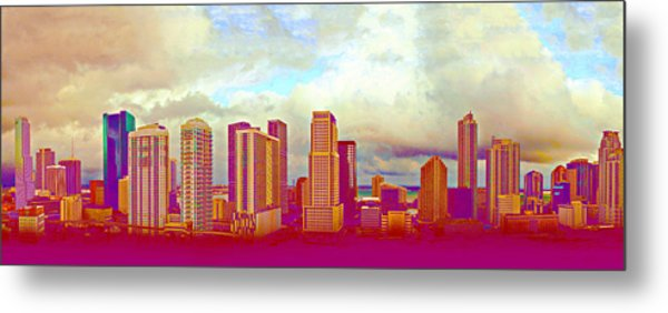 Neon Panorama 1 Metal Print by Michael Guirguis