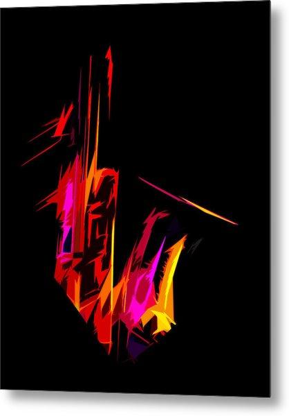 Neon Sax Metal Print