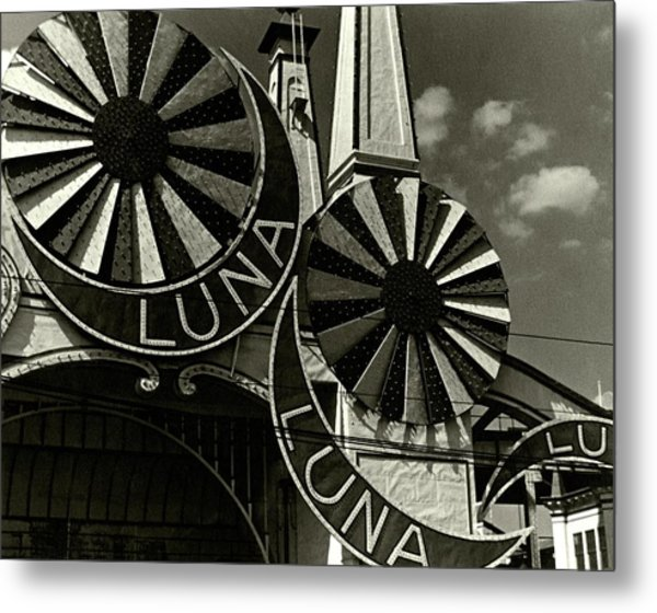 Neon Signs Of Luna Park Metal Print by Lusha Nelson