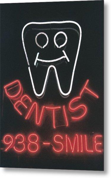 Neon Smile Metal Print