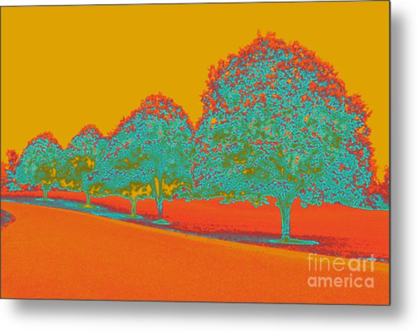 Neon Trees In The Fall Metal Print