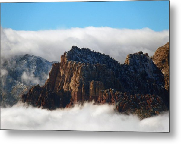 Nestled In The Clouds Metal Print