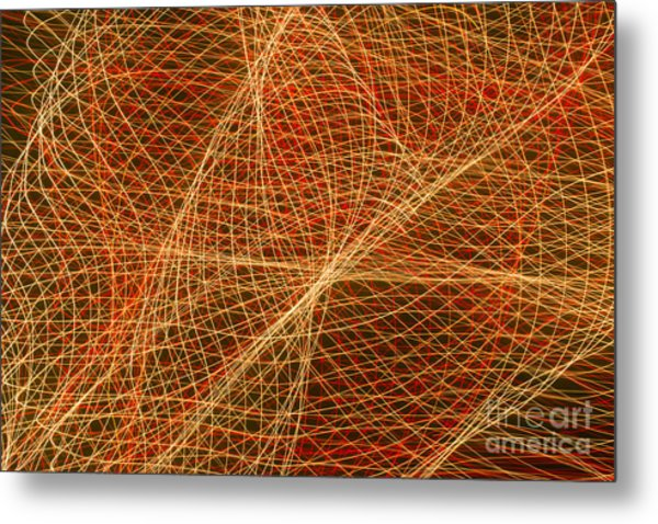 Net For The Fish Of Light Metal Print