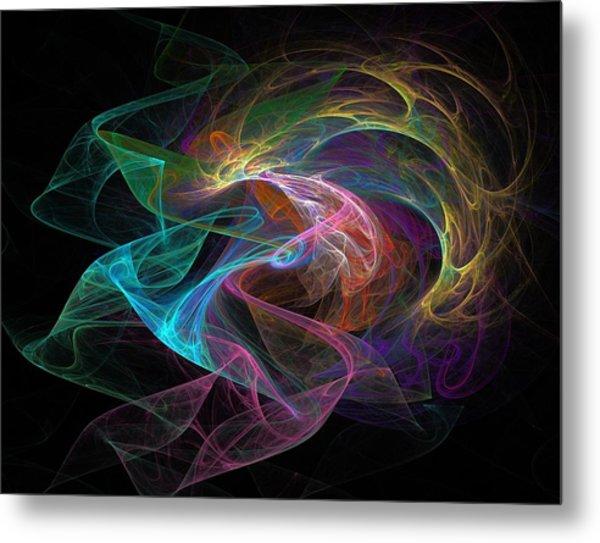 Neural Transmission Metal Print by Barroa Artworks
