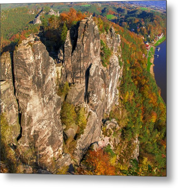 Neurathen Castle In The Saxon Switzerland Metal Print