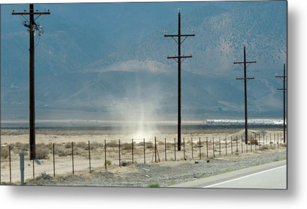 Nevada Dust Devil Metal Print