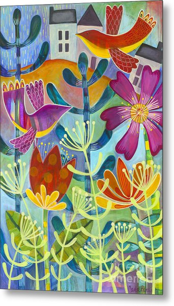 Metal Print featuring the painting New Beginning by Carla Bank