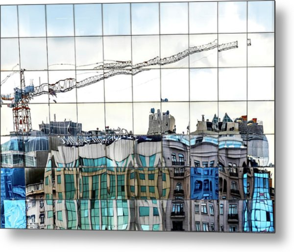 New City In Old City Metal Print