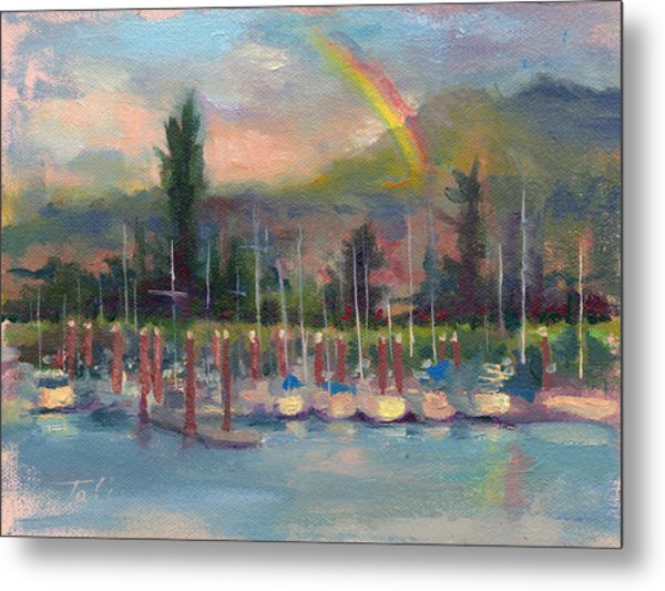New Covenant - Rainbow Over Marina Metal Print