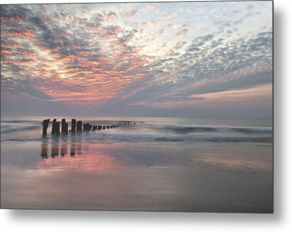New Day Sunrise Sunset Image Art Metal Print